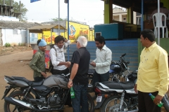 Alan talking to kids in India